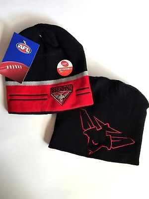 AFL Essendon Bombers Reversible Beanie NEW STYLE Brand New
