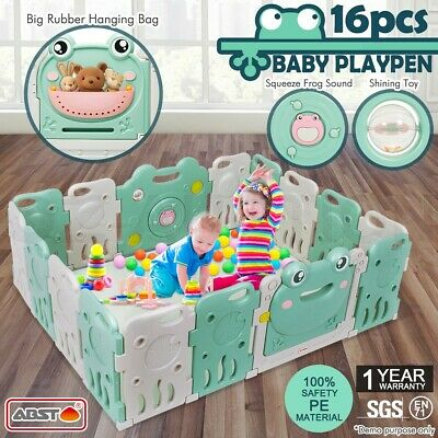 16 Sided Panel Baby Playpen Interactive Kids Toddler Safety Gates Child Barrier