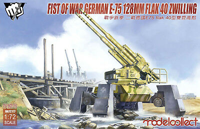 MODELCOLLECT UA72117 Fist of War E-75 Flak 40 128mm Zwilling in 1:72