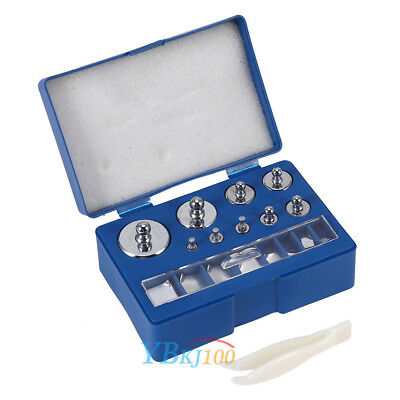 17PCS Calibration Weight Set 1,2,5,10,20,50,100g 10,20,50,100,200,500mg Scale