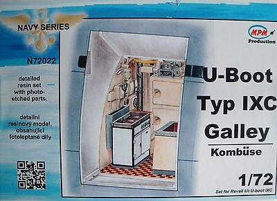 "MPM CMK N72022 Detail Resin Set ""Galley"" for Revell® U-Boot IXC in 1:72"