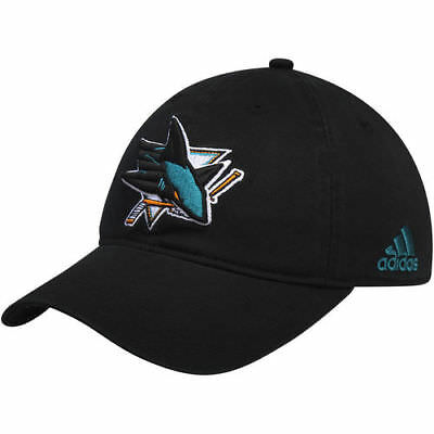the best attitude b27e6 aba2a adidas San Jose Sharks Black Solid Slouch Fitted Hat