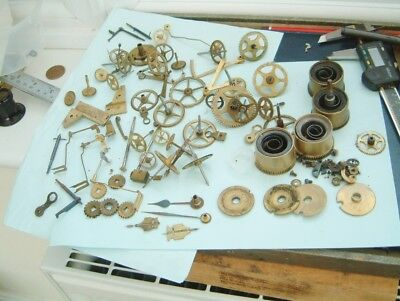 Clock maker Big lot of French clock wheels gears anchors escape LOTS spares
