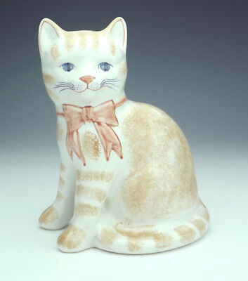 Vintage Rye Studio Pottery Hand Painted Cat Figure - Lovely!