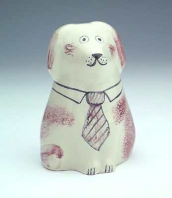 Vintage - Rye Studio Pottery Hand Painted Dog Figure - Lovely!
