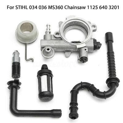 Oil Pump Worm Pipe Filter Drive For STIHL 034 036 MS360 Chainsaw 1125 640 3201