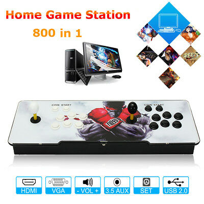 800 All in 1 PCB 4s Games Home Multiplayer Arcade Console Metal Pandora Box US