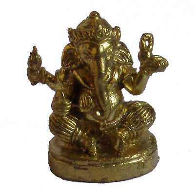 Figurine statuette Ganesh en bronze doré décoration collection Ganesha
