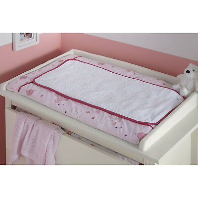 Clair De Lune Pink Tippy Toes Padded Baby Girls Changing Mat With Extra Cover