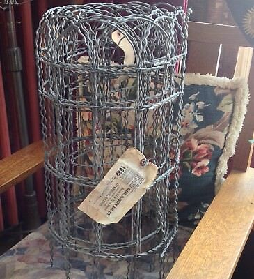 """Vintage Wire Fencing Roll approx. 22"""" X 15'  Cottage Style Garden Yard Fence"""
