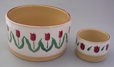Nicholas Mosse Pottery - Ireland - Two  Straight Sided  Dishes  -  Red Tulips