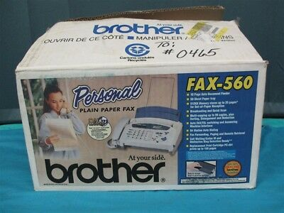 NEW (open box) Brother FAX-560 Fax & Telephone + Answering Machine w/ Caller ID!