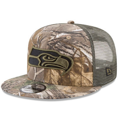 New Era Seattle Seahawks Realtree Camo Olive Trucker 9FIFTY Adjustable  Snapback 508749cf2751