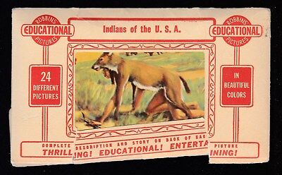 Indians  Of The U. S. A.-24 Color Pictures In Packet-Robbins Pictures-50's--G/vg