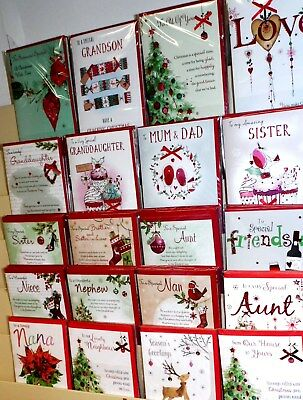 CHRISTMAS 2018 HANDMADE CARDS x 120 JUST 39p, srp £2.99, 20 DESIGNS X 6 (WORDS