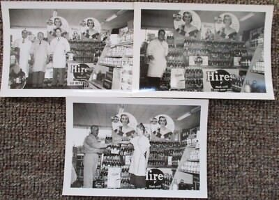 Three 1950 HIRES ROOT BEER REAL PHOTOGRAPH PROMOTIONS DISPLAYS...Omaha