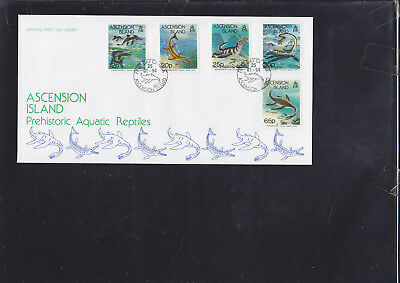 060183 Fische Fish ... Ascension Island 623-27 FDC First Day Cover