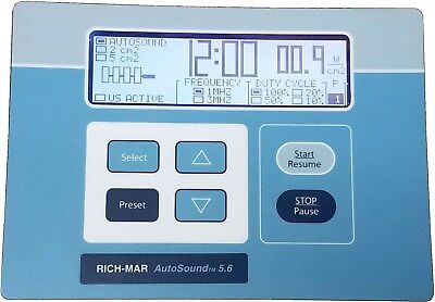 Rich-Mar AutoSound 5.6 Therapeutic Ultrasound LCD Display / Button Panel