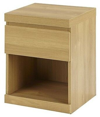 Maine 1 Drawer Side Table - Oak Effect A