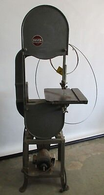 Vintage Heavy Duty Rockwell Delta Milwaukee Band Saw W/ Stand 1/2Hp Works Great