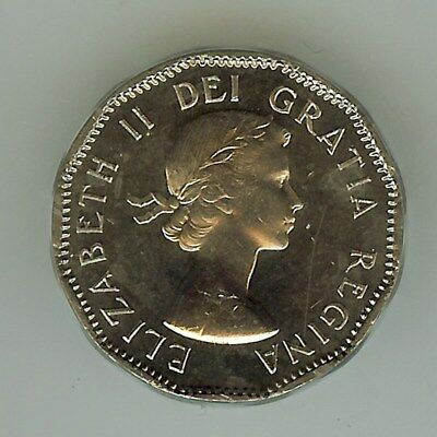 Canada 1955 5 Cents Icg Pl65