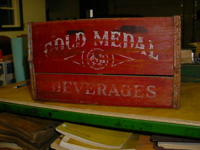 "Vintage Wooden "" Gold Medal ""  Beverages Co. Soda Crate - Twin Cities, Mn"