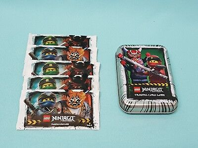 "Lego® Ninjago Serie 3 Mini Tin Box ""Silber"" leer +  5 Booster"