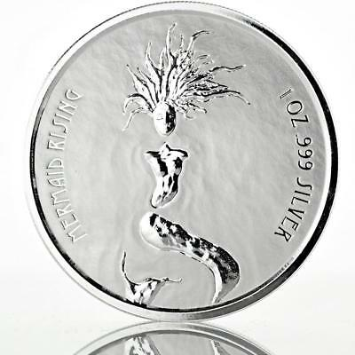 2018 1 oz Fiji Mermaid Rising .999 Silver Coin Prooflike BU #A446