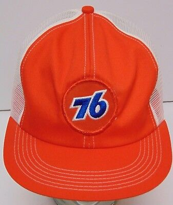 Vintage 1980s UNION 76 GAS OIL PATCH SNAPBACK TRUCKER HAT MADE IN USA K-PRODUCTS