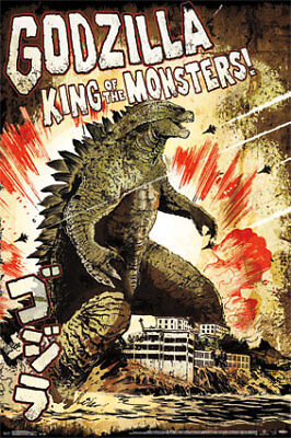 GODZILLA KING OF MONSTERS - CLASSIC MOVIE POSTER, US Version (Size: 24x36)