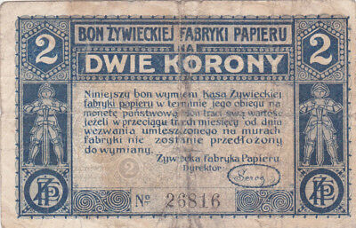 2 Korony/krone Fine  Banknote From Poland 1919!1St Independence Issue After Ww1!