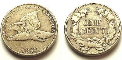 Vf/xf 1857 Flying Eagle Cent- Strong Details! No Reserve!