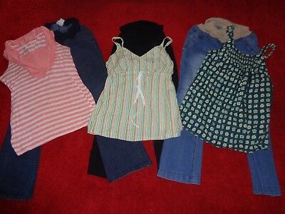 Lot Of Maternity Clothes Motherhood Jeans & Summer Tops Outfits Womens Size L/xl