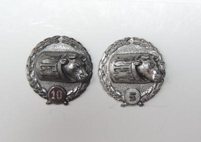 PET MILK Co. Sterling Silver 10 & 15 Year Service Award Pins