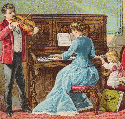Smith American Organ & Piano Co Boston 1800s Music Violin Advertising Trade Card