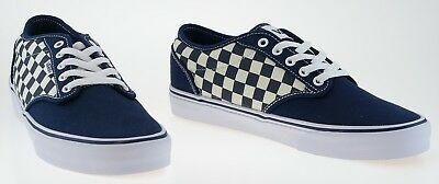 443233 Vans Atwood Checkers Dress Blue White Sample