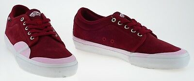 443647 Vans Chukka Low Pro Rubber Red Dahlia White Sample