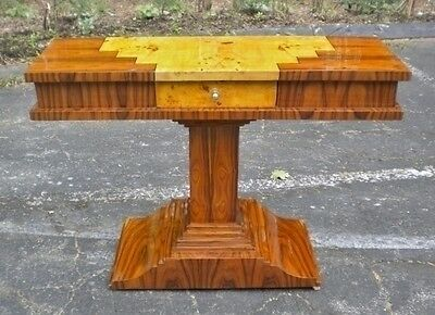 Amazingb Art Deco Chest Console Table Inlaid two toned
