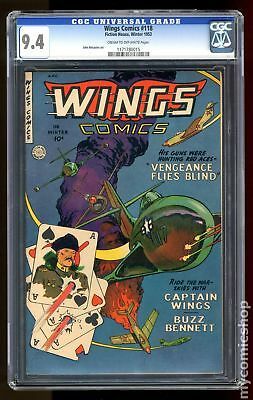 Wings Comics #118 1952 CGC 9.4 1171780015
