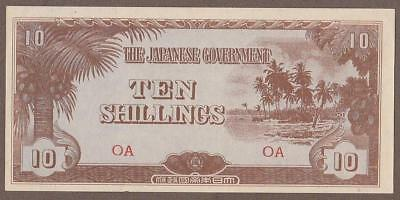 1942 Oceania 10 Shilling Note Unc