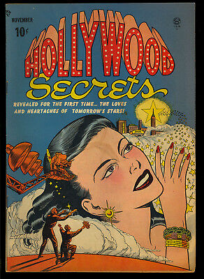 Hollywood Secrets #1 Nice Pre-Code First Issue Golden Age Love Comic 1949 VG