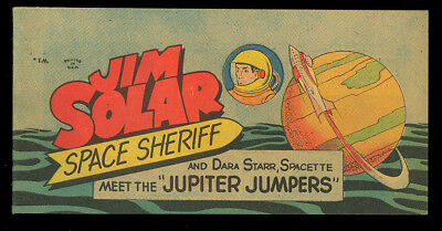 Jim Solar Space Sheriff: Jupiter Jumpers #nn High Grade Giveaway Comic 1957 VF+