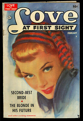 Love at First Sight #3 Very Nice Pre-Code Golden Age Ace Romance 1950 VG-FN