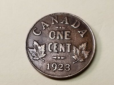 1923 Canadian Small Cent Better Date