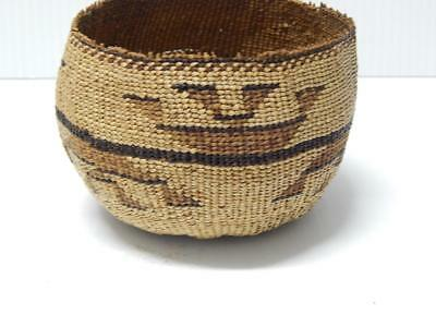 Vintage California Hupa / Yurok Indian Gift Basket Finely Twined - Nr !