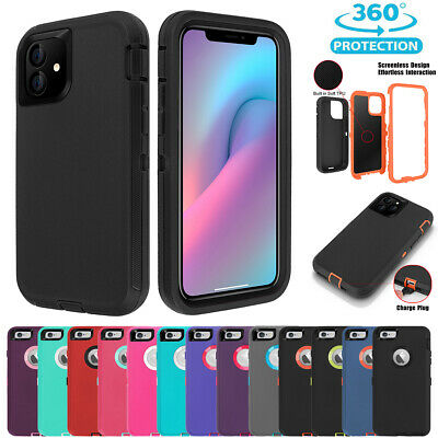 iPhone XS Max X 8 7 6s Plus Hybrid Hard Case Shockproof Tough Armor Rubber Cover