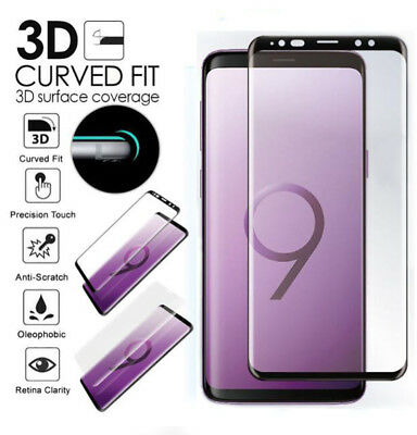3D Full Cover Tempered Glass Screen Protector for Samsung Galaxy S9 Plus A8+2018