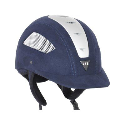 Just Togs Jte Sprint Excel Unisex Safety Wear Riding Hat - Navy/silver All Sizes