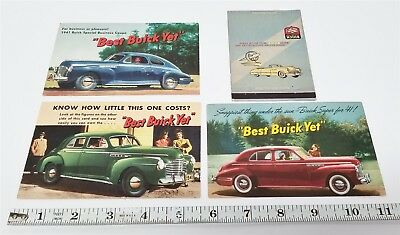 #42 30's/40's Buick Advertising Postcards & Matchbook Covers