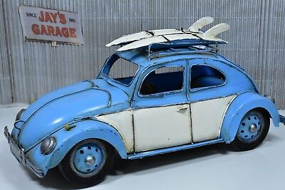 Vintage Surfer Volkswagen Beetle - Tin Toy